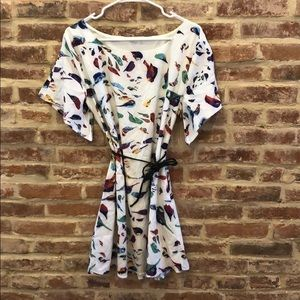 T shirt bird dress